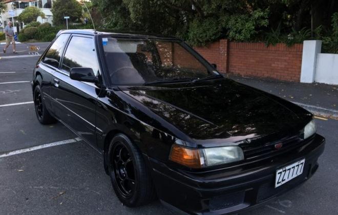 1990 Mazda GT-X Familia Turbo hatch black paint images (4).jpg