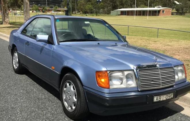1993 Mercedes 320CE Blue on grey exterior images AUstralia (5).png