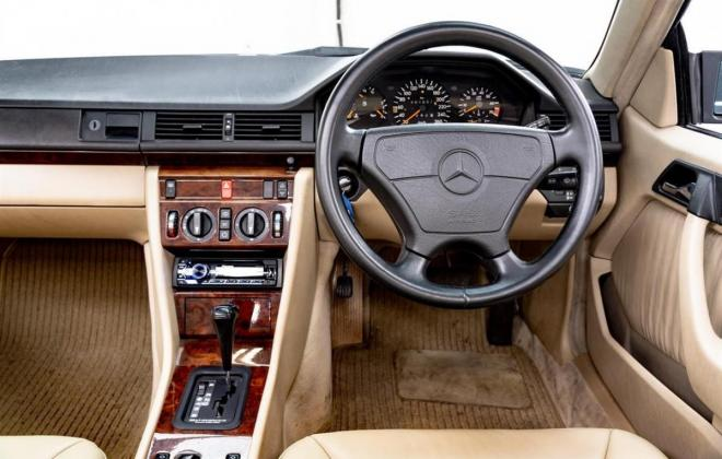 1993 Mercedes E320 cabriolet convertible  mushroom leather interior images sportline (19).jpg