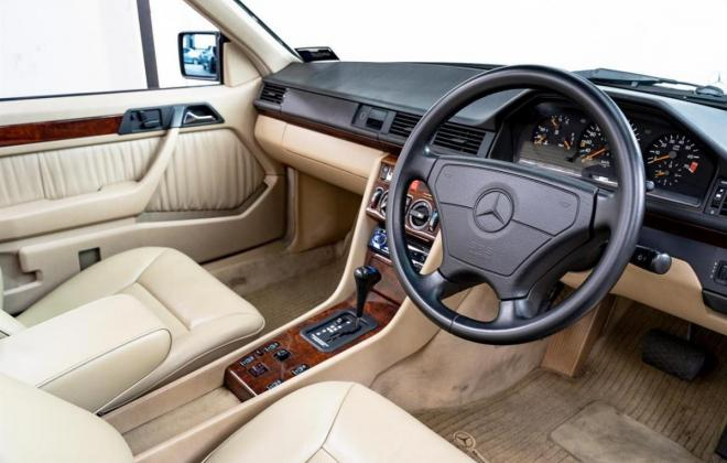 1993 Mercedes E320 cabriolet convertible  mushroom leather interior images sportline (20).jpg