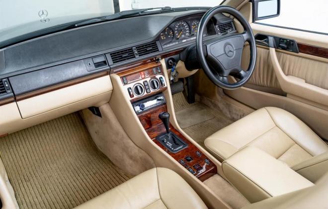 1993 Mercedes E320 cabriolet convertible  mushroom leather interior images sportline (23).jpg