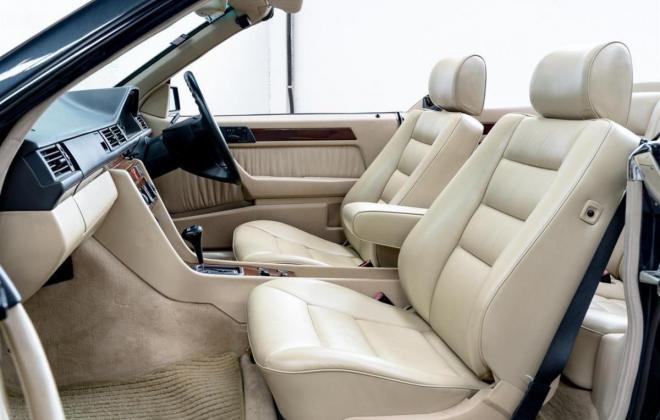 1993 Mercedes E320 cabriolet convertible  mushroom leather interior images sportline (24).jpg