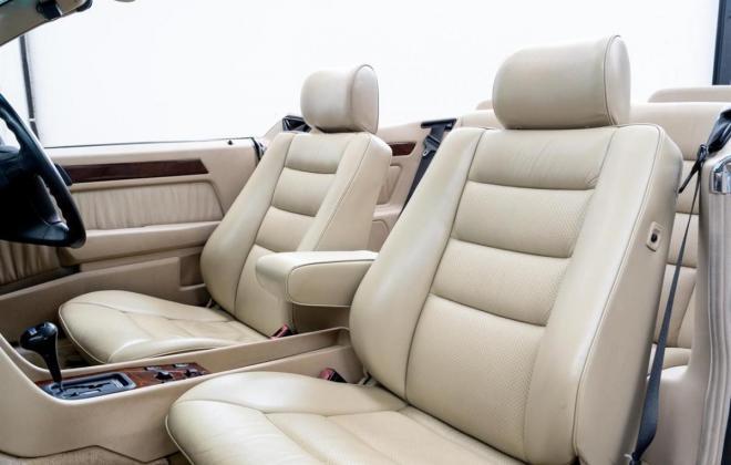 1993 Mercedes E320 cabriolet convertible  mushroom leather interior images sportline (25).jpg
