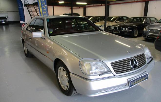 1994 S600 Mercedes coupe C140 silver (1).jpg