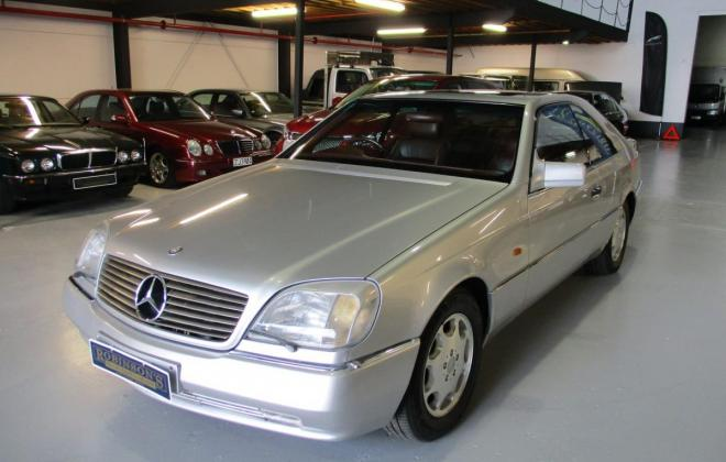1994 S600 Mercedes coupe C140 silver (4).jpg