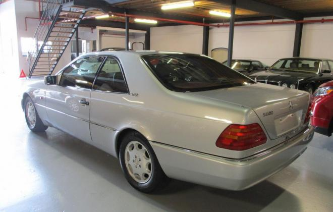 1994 S600 Mercedes coupe C140 silver (5).jpg