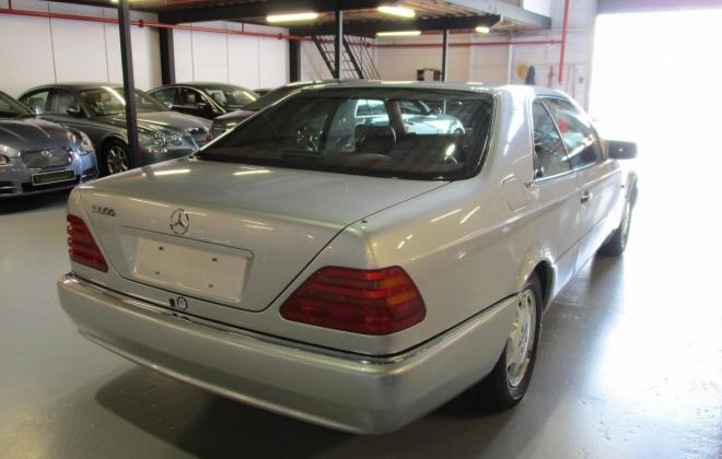 1994 S600 Mercedes coupe C140 silver (6).jpg