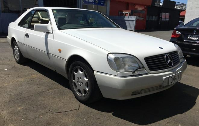 1994 White Mercedes S500 Coupe New Zeland images classic car (1).jpg