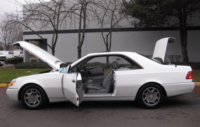 1996 Mercedes S500 coupe W140 C140 white images USA (14).jpg