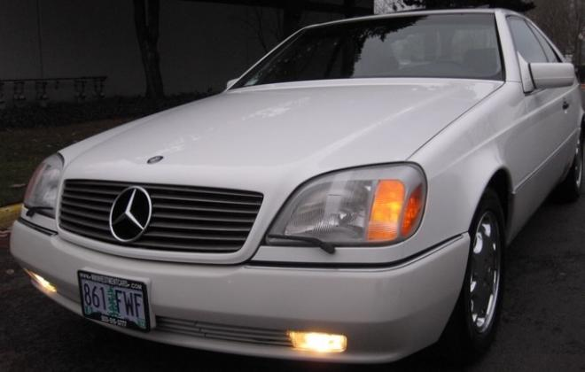 1996 Mercedes S500 coupe W140 C140 white images USA (15).jpg