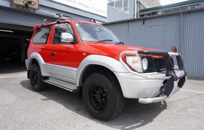 1996 Toyota Land Cruiser Prado J90 SWB 3 door JDM import NZ RHD images red on silver (1).jpg