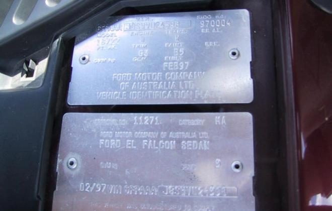 1997 El Falcon GT number 004 regency red images (6).jpg