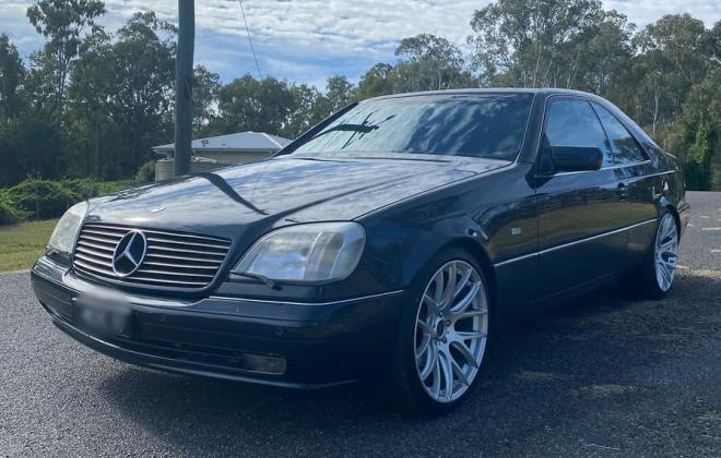 1997 Mercedes C140 coupe Australia British import midnight blue paint (5).jpg