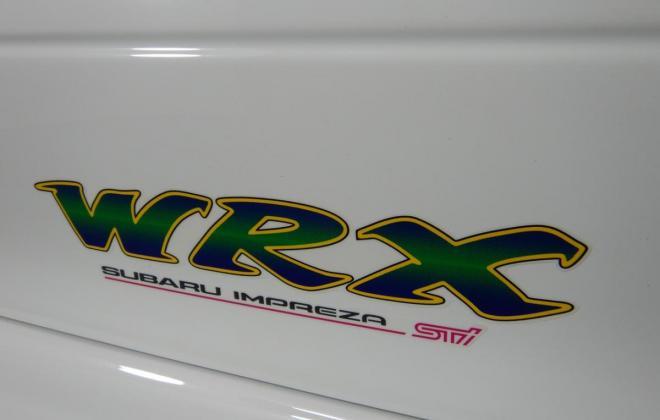 1998 Subaru WRX STi Version 5 Coupe type R white stickers badges images 2021 Australia (10).jpg