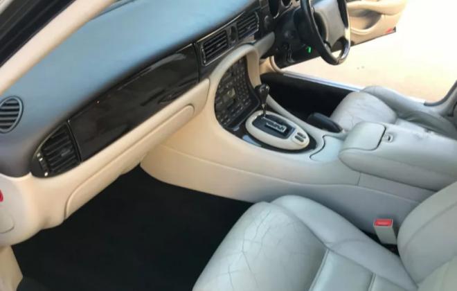 1999 Blue Jaguar XJR X308 Australia RHD interior crema leather images (9).png