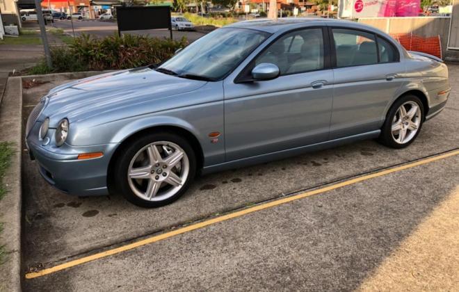 2003 Jaguar S-Type R V8 Supercharged Blue UK import to Australia (5).jpg