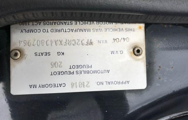 2004 Peugeot 206 GTI 180 Black hatch Feb 2021 Australia (8).jpg