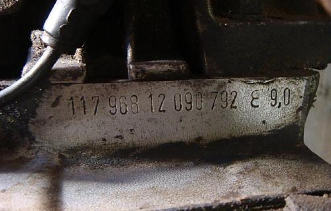 560SEC engine number.jpg