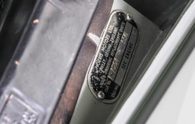 970cc Morris Cooper S vin tag on radiator shroud.png