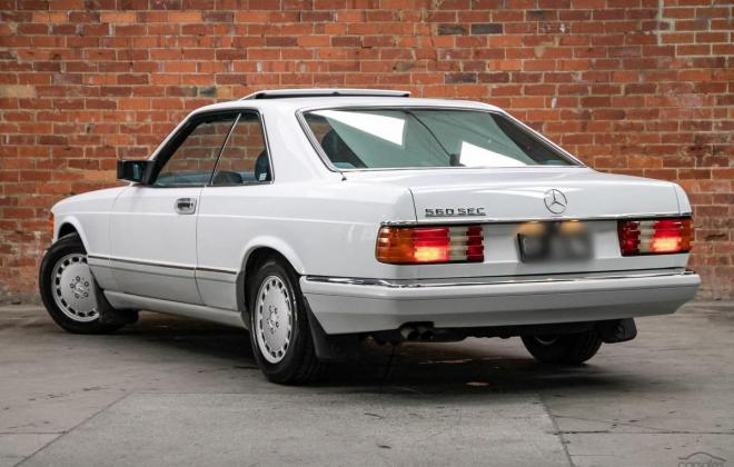 Arctic White 1989 Mercedes 560SEC two tone Australian delivered images (1).jpg