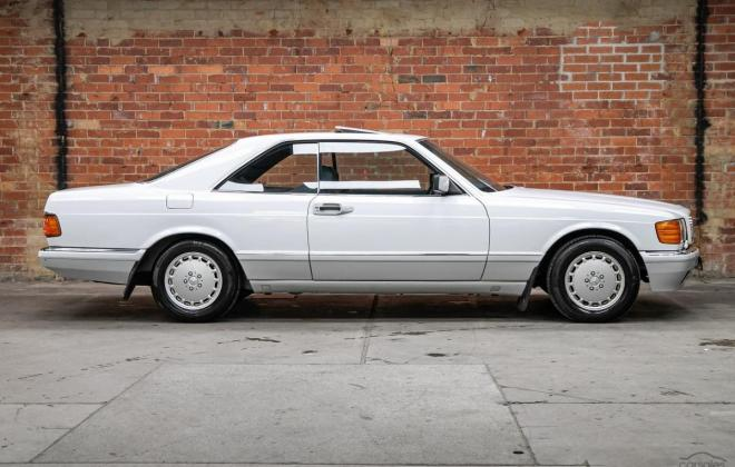 Arctic White 1989 Mercedes 560SEC two tone Australian delivered images (12).jpg