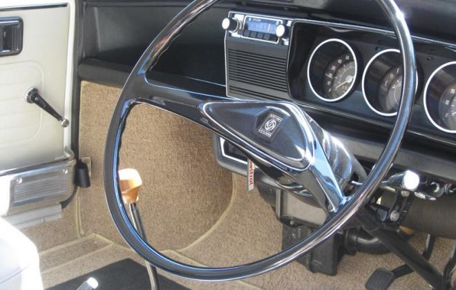 Australian Leyland Clubman GT steering wheel and dashboard.jpg