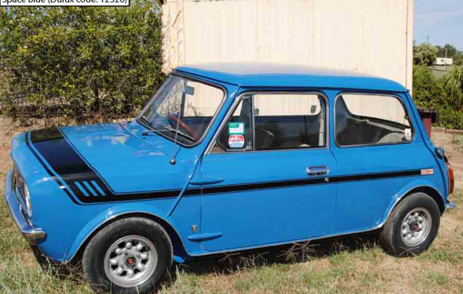 Australian Leyland Mini Clubman GT Space Blue paint.png