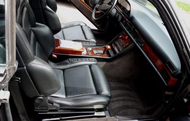 Black 560 SEC AMG 6.0 widebody interior image classic register (5).jpg