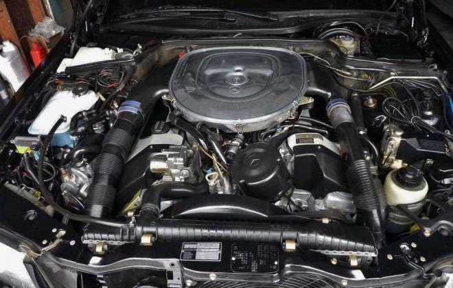 Black Mercedes 560SEC AMG 6.0 wide body engine.jpg