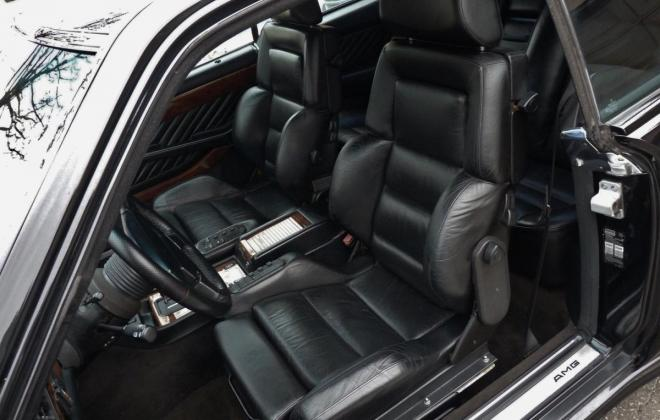 Black Mercedes 560SEC AMG 6.0 wide body interior seats.jpg