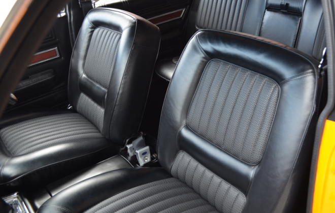 Black front vinyl seats XW Ford Falcon GT image.png