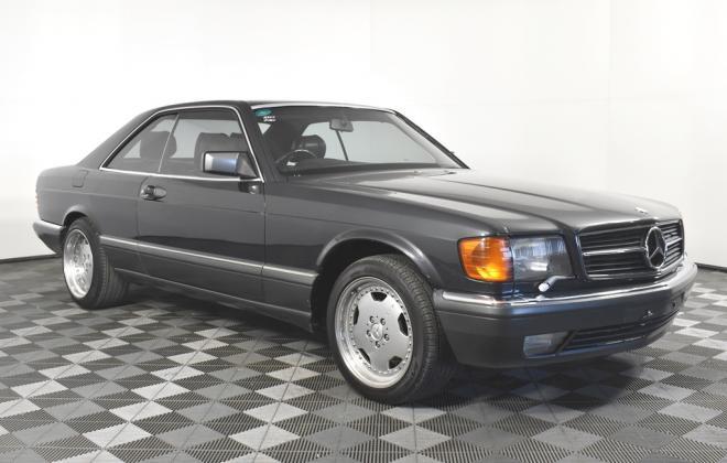 Blauschwarz Blue Black Mercedes 560SEC 1991 coupe Australia images RHD (4).jpg