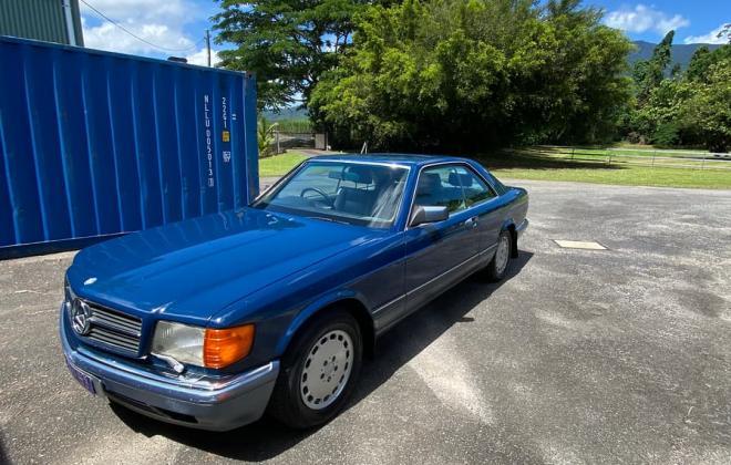 Blue 1989 Mercedes C126 W126 560 SEC coupe Australia (3).jpg