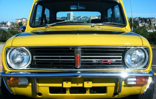 Bold as Brass Yellow Leyland Mini Clubman GT Australia.png
