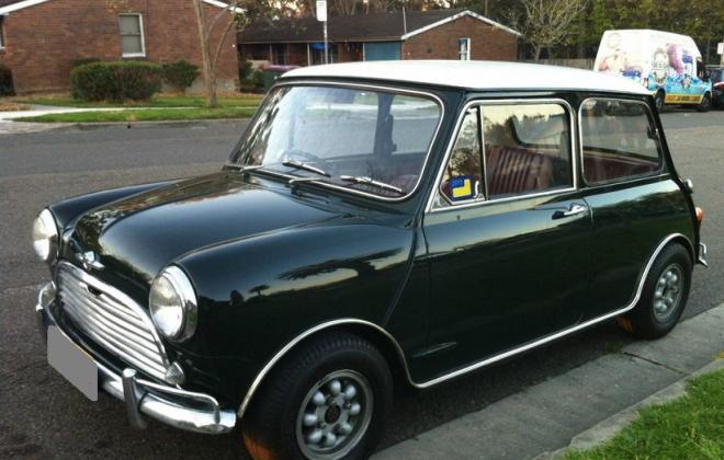 British Racing Green MK1 Morris Mini Cooper S Australia.jpg