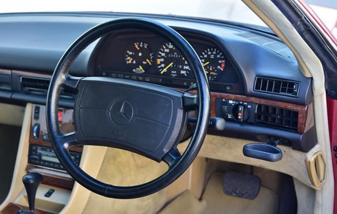 Burgundy maroon Mercedes 560SEC Australian delivered coupe car images (12).jpg