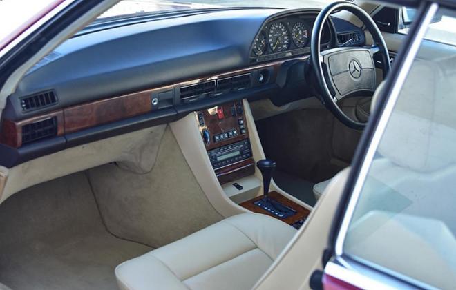 Burgundy maroon Mercedes 560SEC Australian delivered coupe car images (13).jpg