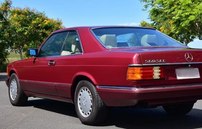 Burgundy maroon Mercedes 560SEC Australian delivered coupe car images (14).jpg
