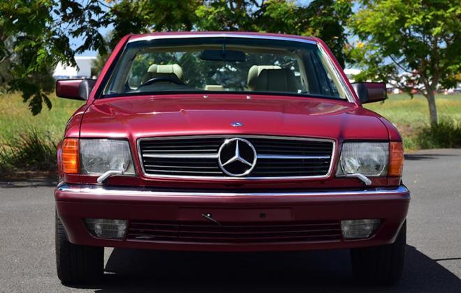 Burgundy maroon Mercedes 560SEC Australian delivered coupe car images (16).jpg