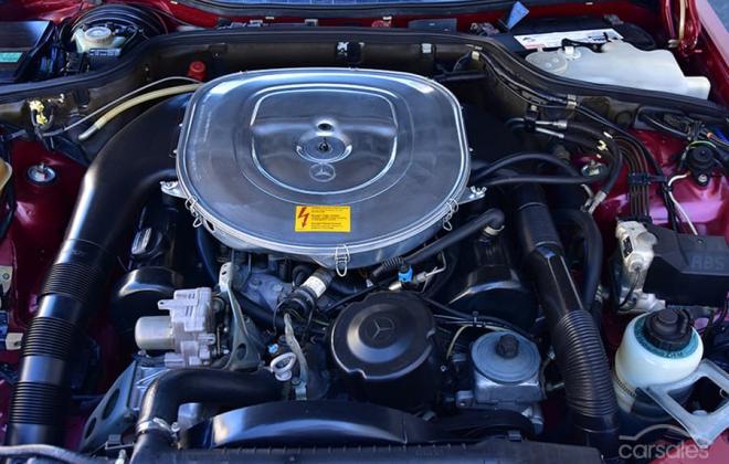 Burgundy maroon Mercedes 560SEC Australian delivered coupe car images (4).jpg