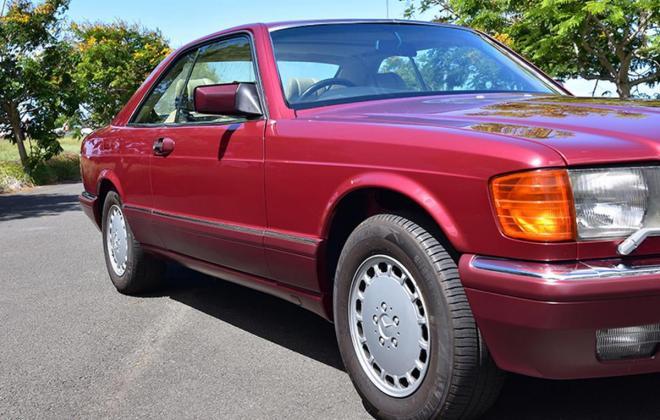 Burgundy maroon Mercedes 560SEC Australian delivered coupe car images (5).jpg