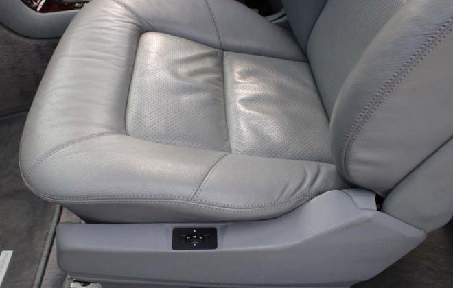 C140 Mercedes coupe early perforated leather seat trim image.jpg