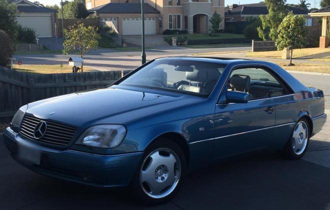 C140 W140 Mercedes s class coupe Quartz Blue images Australia RHD (13).jpg