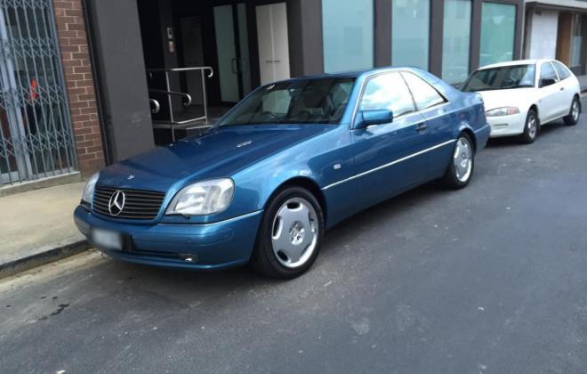 C140 W140 Mercedes s class coupe Quartz Blue images Australia RHD (5).jpg