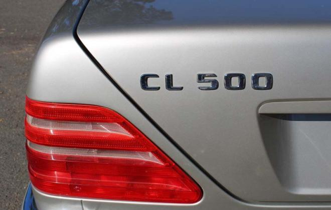 CL500 rear badge 1997 model C140 Mercedes.jpg