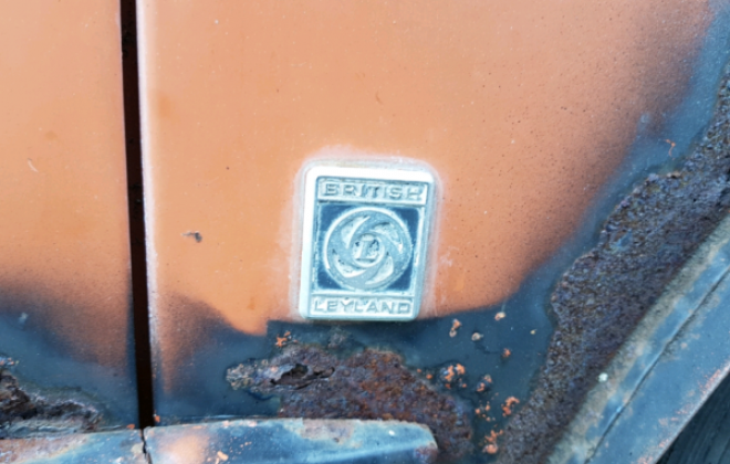 Cadiz Orange Australian Mini Clubman GT unrestored shell images 1971 (3).png