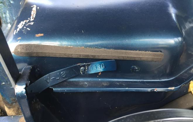 Canadian built Studebaker Daytona body tag number image.png