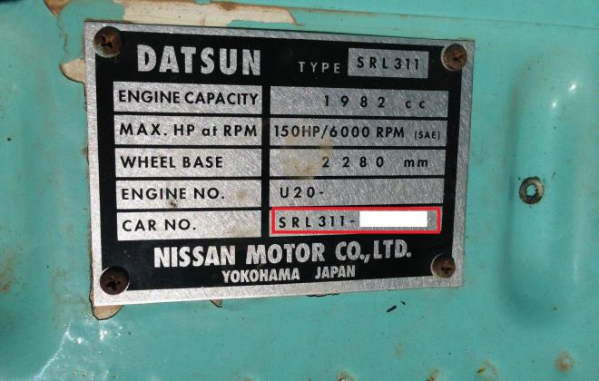Chassis number Datsun Raodster 2000.jpg