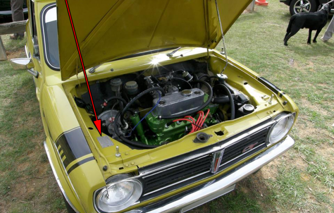 Clubman GT compliance plate chassis number location.png