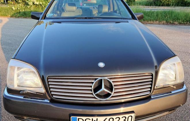 Dark Grey 1993 Mercedes 500SEC C140 (12).jpg